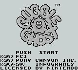 Bubble Ghost Game Boy Title Screen