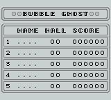 Bubble Ghost Game Boy Hall of Fame