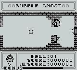 Bubble Ghost Game Boy Bubble Ghost is invincible, but the bubble is not
