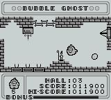 Bubble Ghost Game Boy Be sure to blow out the candle first here!