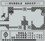 Bubble Ghost Game Boy Whoops!  Burst the bubble