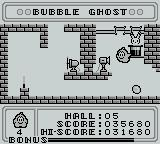 Bubble Ghost Game Boy Blowing into this contraption will turn off the fan