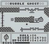 Bubble Ghost Game Boy Navigated through another room