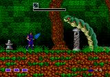 Mystic Defender Genesis This snake spits at you so jumping is the best form of defense.