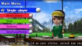 Hot Shots Golf: Open Tee PSP Main menu