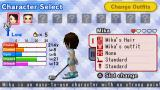 Hot Shots Golf: Open Tee PSP Character selection screen