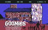 The Goonies Commodore 64 Title screen