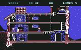 The Goonies Commodore 64 Level 1. We need to distract Mama Fratelli so we can put out the fire in the fireplace and escape.