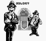 The Blues Brothers: Jukebox Adventure Game Boy Choose which brother you want to play