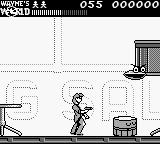 Wayne's World Game Boy The first enemy you see is a flying cymbal