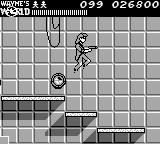 Wayne's World Game Boy Jump the barrels just like Mario used to
