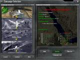 Total Air War Windows The campaign selection screen gives you a choice of scenarios
