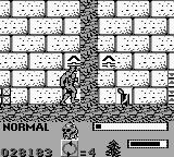 Swamp Thing Game Boy Jump at the arrow marking to warp to another room