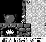 The Smurfs Game Boy The cauldron is boiling hot so don't touch it