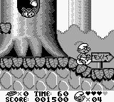 The Smurfs Game Boy The exit sign means you are at the end of the level
