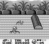 The Smurfs Game Boy You need to avoid both the logs and the fish on this level