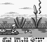 The Smurfs Game Boy These frogs can be used as platforms but they disappear if you take to long