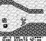 The Smurfs Game Boy These spinning spike move erratically so you have to move carefully