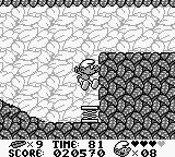 The Smurfs Game Boy Use the spring to get more height