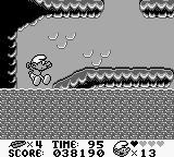The Smurfs Game Boy You need to get to the top before the rising lava gets you
