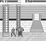 Fist of the North Star: 10 Big Brawls for the King of the Universe! Game Boy The first enemy is quite big