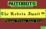 Autobots DOS Title Screen
