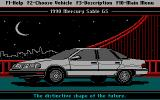 Ford Simulator II DOS Picture of the Mercury Sable GS 1990