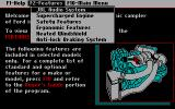 Ford Simulator II DOS Features list in the info center