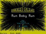 Run Baby Run ZX Spectrum Loading Screen