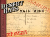 WWII: Desert Rats Windows Main menu
