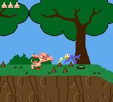 Quest for the Shaven Yak starring Ren Hoëk & Stimpy Game Gear Ren shooting his defaul weapon, toothbrushes.