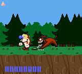 Quest for the Shaven Yak starring Ren Hoëk & Stimpy Game Gear The first boss, a big'n'bad dog.