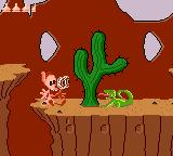 Quest for the Shaven Yak starring Ren Hoëk & Stimpy Game Gear Ren got shot by a lizard!