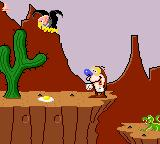 Quest for the Shaven Yak starring Ren Hoëk & Stimpy Game Gear Vultures will attack with their eggs.