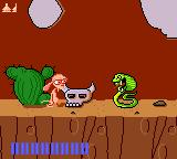 Quest for the Shaven Yak starring Ren Hoëk & Stimpy Game Gear Level two boss, a naja.