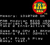 Austin Powers: Oh Behave! Game Boy Color When you load the game you get a mock dos window with cheesy text