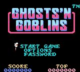Ghosts 'N Goblins Game Boy Color Title Screen