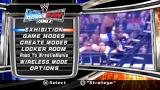 WWE SmackDown vs. Raw 2007 PSP Main menu