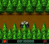 Carmageddon Game Boy Color Driving through the woods