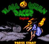 Halloween Racer Game Boy Color Title Screen