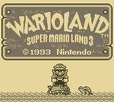 Wario Land: Super Mario Land 3 Game Boy Title Screen