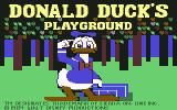 Donald Duck's Playground Commodore 64 Title screen