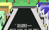 Donald Duck's Playground Commodore 64 Difficulty selection screen