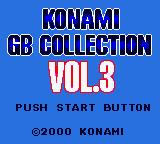 Konami GB Collection Vol. 3 Game Boy Color The Main Title Screen