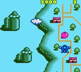 Konami GB Collection Vol. 3 Game Boy Color Pop n' TwinBee - When you destroy the pink cones they give you an apple which is worth 100 points