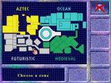 The Crystal Maze DOS Zone selection