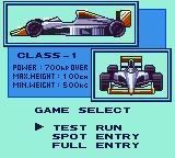 Konami GB Collection Vol. 1 Game Boy Color Konami Racing - Set up what race you want to do