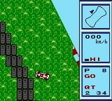 Konami GB Collection Vol. 1 Game Boy Color Konami Racing - Skidding off onto the grass loses you valuable seconds