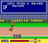 Konami GB Collection Vol. 2 Game Boy Color Track & Field - You need to get a good sprint going for the javelin