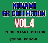 Konami GB Collection Vol. 4 Game Boy Color Main Title Screen